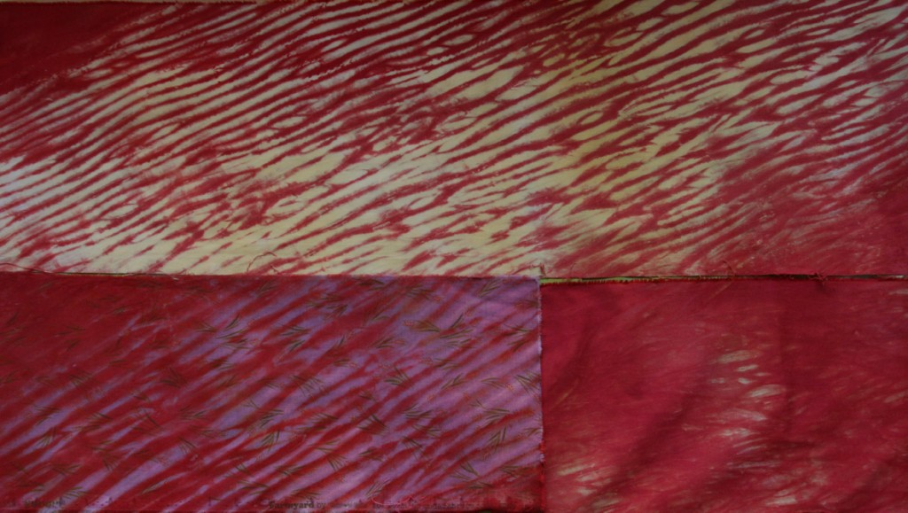 Pole Wrapped Shibori Overdye
